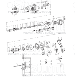 Патрон SDS в сборе перфоратора Sturm! RH2509BZ (рис. 102) - фото 60055