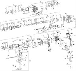 Щеткодержатель перфоратора Энкор ПЭ-870/26 ЭР (рис.78)