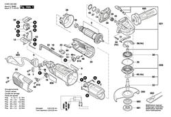 Этикетка типа болгарки Bosch PWS 1000-125 (рис.808) - фото 60532