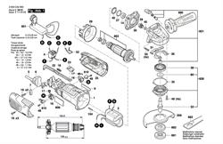 КОРПУС РЕДУКТОРА болгарки Bosch PWS 1000-125 CE (рис.821) - фото 60534