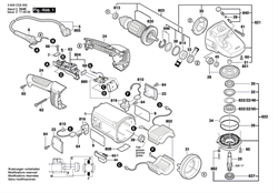 Шарикоподшипники болгарки Bosch PWS 2000-230 JE (рис.814)