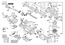 РЕДУКТОРНЫЙ УЗЕЛ болгарки Bosch GWS 19-125 CI (рис.838)