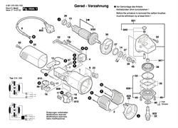 ВИНТ С ГОЛОВКОЙ TORX3x10 болгарки Bosch GWS 660 (рис.48)