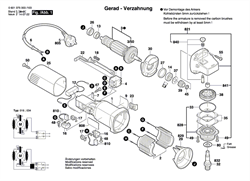 КОРПУС РЕДУКТОРАЗЕЛЕНЫЙ болгарки Bosch GWS 660 (рис.821)