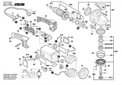 КОРПУС РЕДУКТОРА болгарки Bosch PWS 2000-230 JE (рис.821)