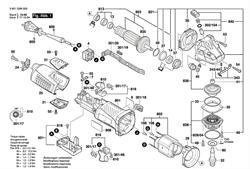 Шарикоподшипники болгарки Bosch GWS 19-150 CI (рис.813)