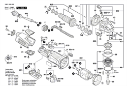 Щёточный держатель болгарки Bosch GWS 19-150 CI (рис.816)