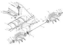 Коробка передач держатель  подметальной машины Tielbuerger TK17 (рис.1)
