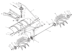 Шестигранная гайка  подметальной машины Tielbuerger TK17 (рис.16)