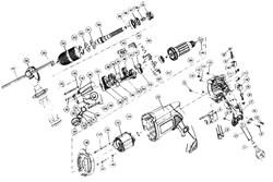 Кольцо войлочное дрели Зубр ЗДУ-1100-2-ЭРМК (ЭРМ) (рис.51) - фото 60984