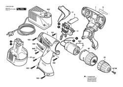 Мотор постоянного тока 12V DC motor 12V шуруповерта Bosch PSR 1200 (0603944564) (рис.803) - фото 61307