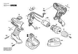 Толкатель КРАСНЫЙ Adjusting Slide RED шуруповерта Bosch PSR 12-2 (3603J51500)(рис.5) - фото 61312