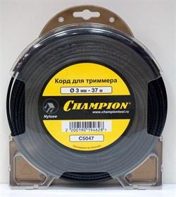 Корд триммерный CHAMPION  Nylsaw 3.0мм*37м (черный зубчатый) - фото 63531