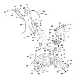 Червячный вал привода редуктора культиватора Al-ko MH 350 LM (рис.38)
