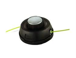 Автоматическая триммерная головка Гайка M10*1,25  Левая резьба   Система заправки лески без разборки. Металлическая кнопка с подшипником - фото 64284