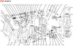 Бак моющего средства минимойки Elitech М1500 Р2