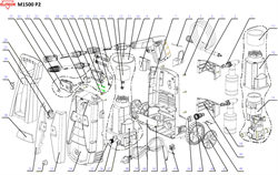 Шланг высокого давления 8 м (армированная резина) минимойки Elitech М1500 Р2