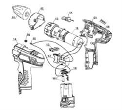 Мотор + привод шуруповерта EINHELL LI-ION TH-CD 12-2 LI ( 4513206) рис.17)