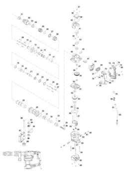 Крест утопил полукруглой головкой M4x12 перфоратора EINHELL TE-DH 1027 (4139090) (рис.37) - фото 66501