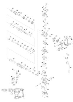 ST5x60 самонарезающих винта перфоратора EINHELL TE-DH 1027 (4139090) (рис.57) - фото 66521