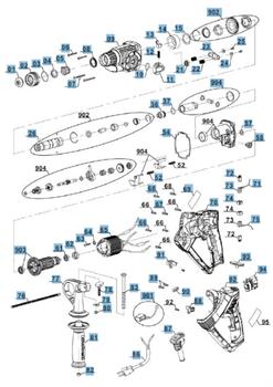 конденсатор компл. отбойного молотка EINHELL RT-RH 20/1 (4258491) (рис.901) - фото 66611