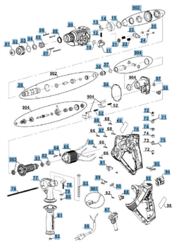 подшипник 609-2Z отбойного молотка EINHELL RT-RH 20/1 (4258491) (рис.59) - фото 66631