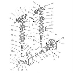 Прокладка головки цилиндра компрессорной головки ElitechТС 2065 (рис.8) - фото 66715