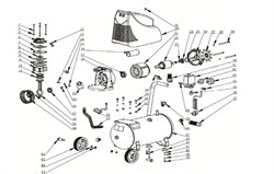 Болт М6х20 коленвала безмасляного коаксильного компрессора ElitechКПБ 190 (рис.13) - фото 66959