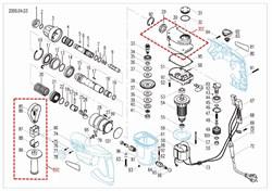 Корпус редуктора с втулкой подшипника скольжения перфоратора Зубр ЗП-805-ЭК (рис.30С) - фото 67235
