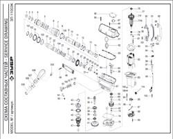 Прокладка  перфоратора Зубр ЗП-1100-ЭК (рис.63) - фото 67511