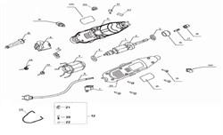 "Шнур сетевой ""URAGAN"" Rubber 2x0,75mm?  2m гравера Stayer SMG-135 (рис.9) - фото 67824"