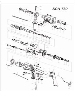 Кожух патрона перфоратора Stayer SCH-780 (рис.3) - фото 67948