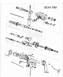 Корпус статора перфоратора Stayer SCH-780 (рис.75) - фото 67955