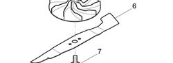 Нож мульчирующий 41 см газнокосилки Stiga COMBI 44 E