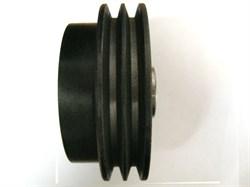 Сцепление виброплиты два ручья, профиль ремня 17 мм, внешний диаметр 130 мм, внутренний 19,05 мм