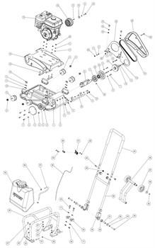 Сцепление виброплиты Grost PC-2248CH №16 - фото 69121