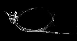 Трос газа виброплит с ручкой ( рубашка 90 см трос 1 метр 15 см) - фото 6943