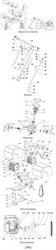 Электродвигатель 380V 3kW затирочной машины GROST ZMU