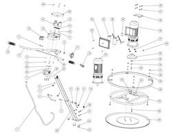 Рукоятка фиксатор затирочной машины GROST ZME6070 18