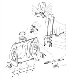Пластины крепления желоба снегоуборщика Elitech СК7 (рис.31) - фото 69972