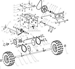 Штифт крепления колеса снегоуборщика Elitech СК7 (рис.7) - фото 69981