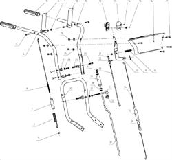 Ручка верхняя правая снегоуборщика Elitech СК-7 (рис.5) - фото 70040