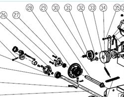 Колесо фрикционное привода хода снегоуборщика SUNGARDEN ST 1129 EST №28 - фото 70496