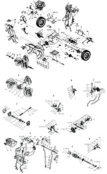 Основание фрикционного колеса снегоуборщика SUNGARDEN TORNADO 2460 LR №V5 - фото 70666