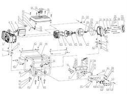 Задняя рамка генератора FUBAG BS 1100 №33