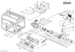 Статор в сборе генератора FUBAG BS 6600 №36