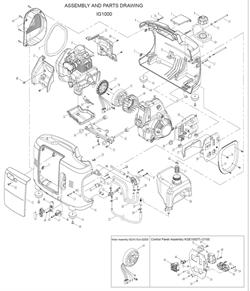 Статор в сборе 6 контактов генератора FUBAG ТI 1000 №27 - фото 71068