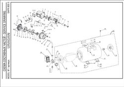 Винт M8x24 T30 насосной станции Uragan GAPR-800-S (рис.45) - фото 71345
