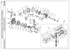 Крышка задняя блока насосной станции Uragan GAP-1000 (рис.83) - фото 71452