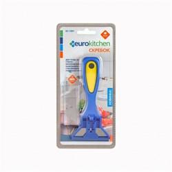 Скребок Eurokitchen для чистки стеклокерамики, синий/желтый - фото 73605